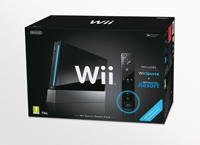 Wii - Konzole Wii Black Sports Resort Pak & WR
